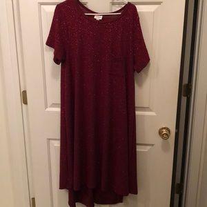 Lularoe Elegant Carly Cranberry  XL Like New